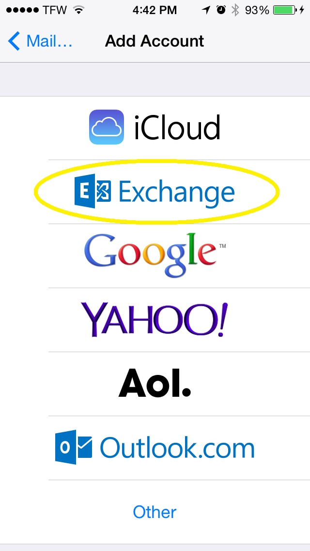 Creat Exchange Account